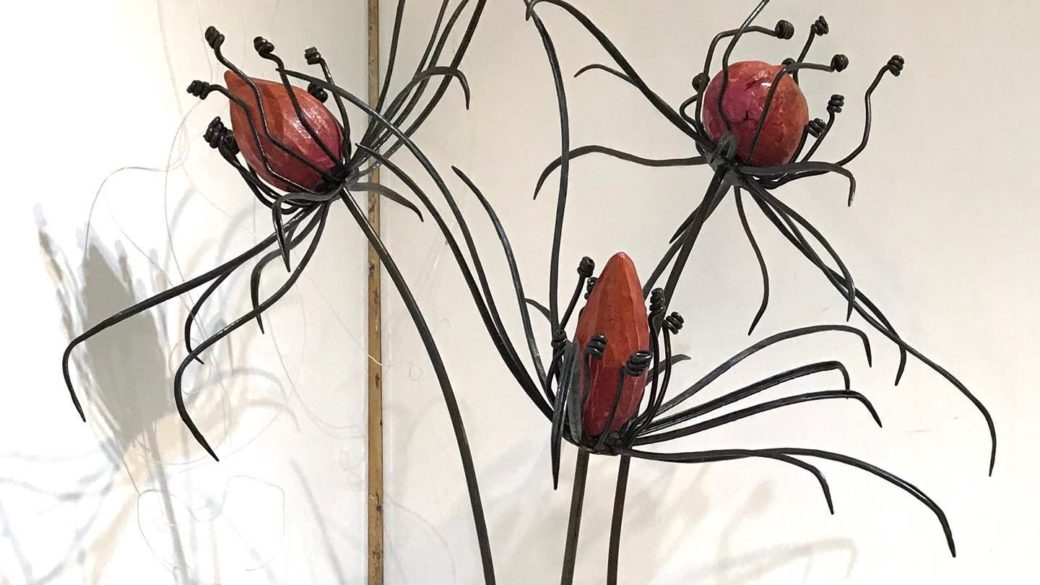 Denise Axelsen  'Botanica'  Forged steel, wood