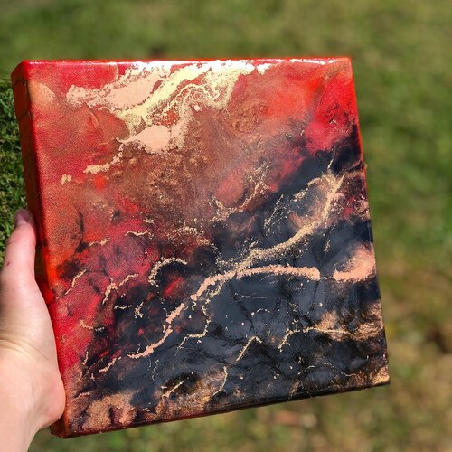 Brenda Stone  Lava Flow  Mixed Media on Canvas