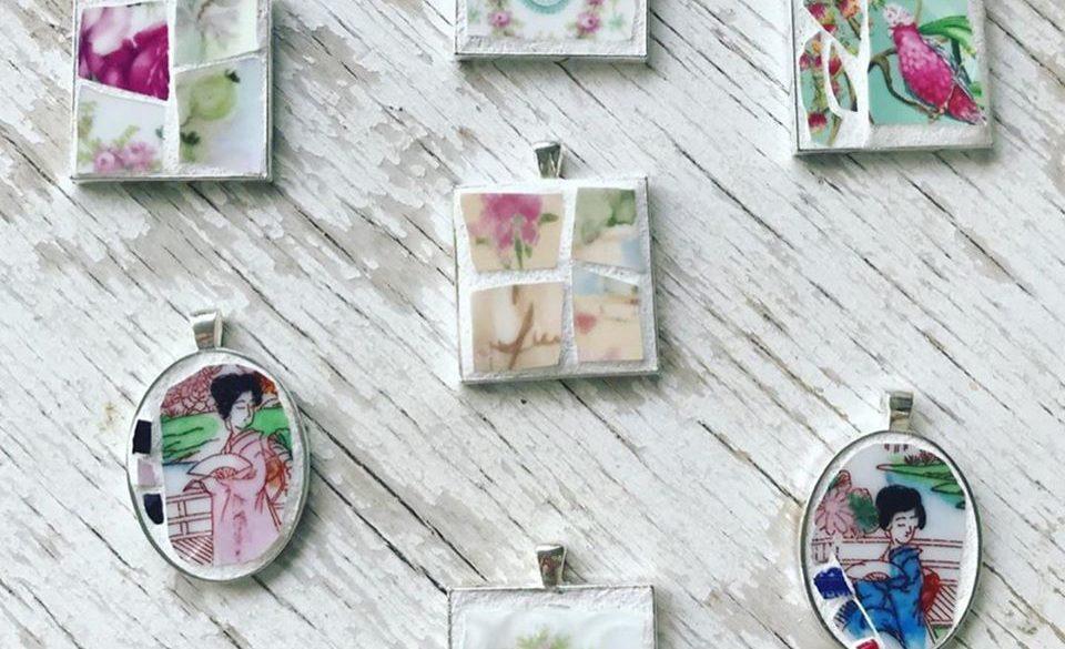 Deborah Keats:  Mosaic Pendant